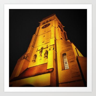 Church at Night Art Print by AngelEowyn - $17.16