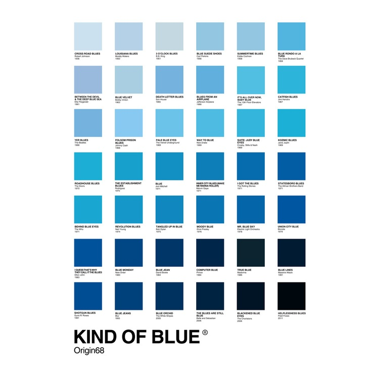 KIND OF BLUE Tshirt by Origin68    http://www.origin68.com/product/kind-of-blue: Art Stuff, Origin68 Stuff, Blue Tshirt, Living Room, Blue Bleu Blau, Products, Kind Of Blue Full Design Jpg
