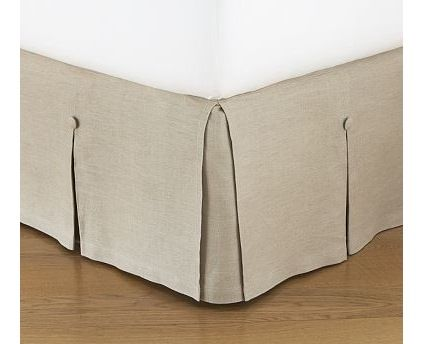 Traditional Bedskirts by Pottery Barn - linen tailored