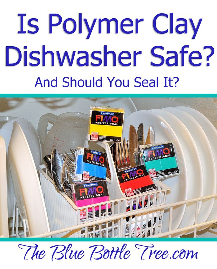 Can you put polymer clay in the dishwasher? Does it need to be sealed? More at The Blue Bottle Tree.