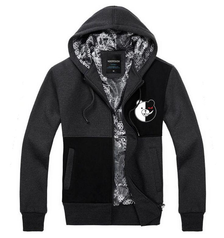Amazon.com: Dangan-Ronpa Black&White Brear Monokuma Hoodie Jacket Costume: Clothing