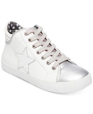 372eaa4a04d Steve Madden Women s Savior Star Sneakers - White 8.5M Platform Sneakers