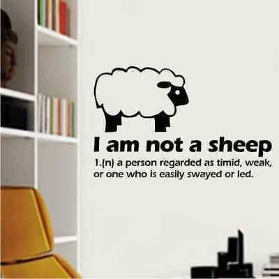 Perfect Details About Sheep Funny Wall Art Sticker Graphic Vinyl Lounge Kitchen  Office Bedroom Dining