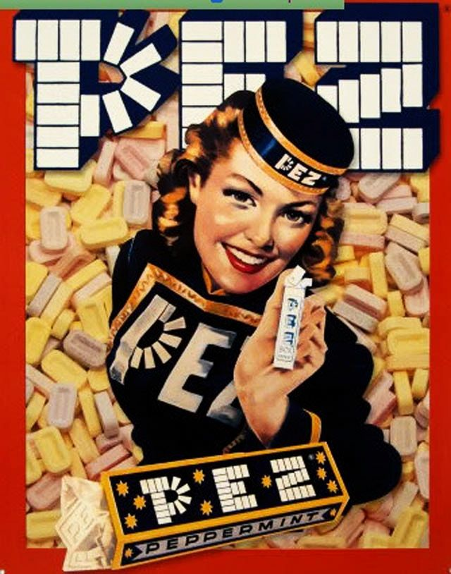 Pez candy advertisement - 1920