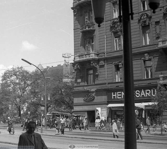 1973. Szt. István körút a Jászai Mari térnél