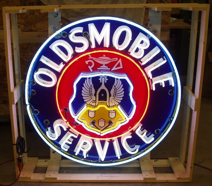 Oldsmobile Neon sign omg we need this sign