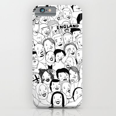Go England! #illustration #doodle #art #drawing #pen #bnw #blackandwhite #bw #mono #society6 #s6 #game #worldcup #england #phone #iphone #iphone5 #iphone5s #iphone6 #iphone6plus #case
