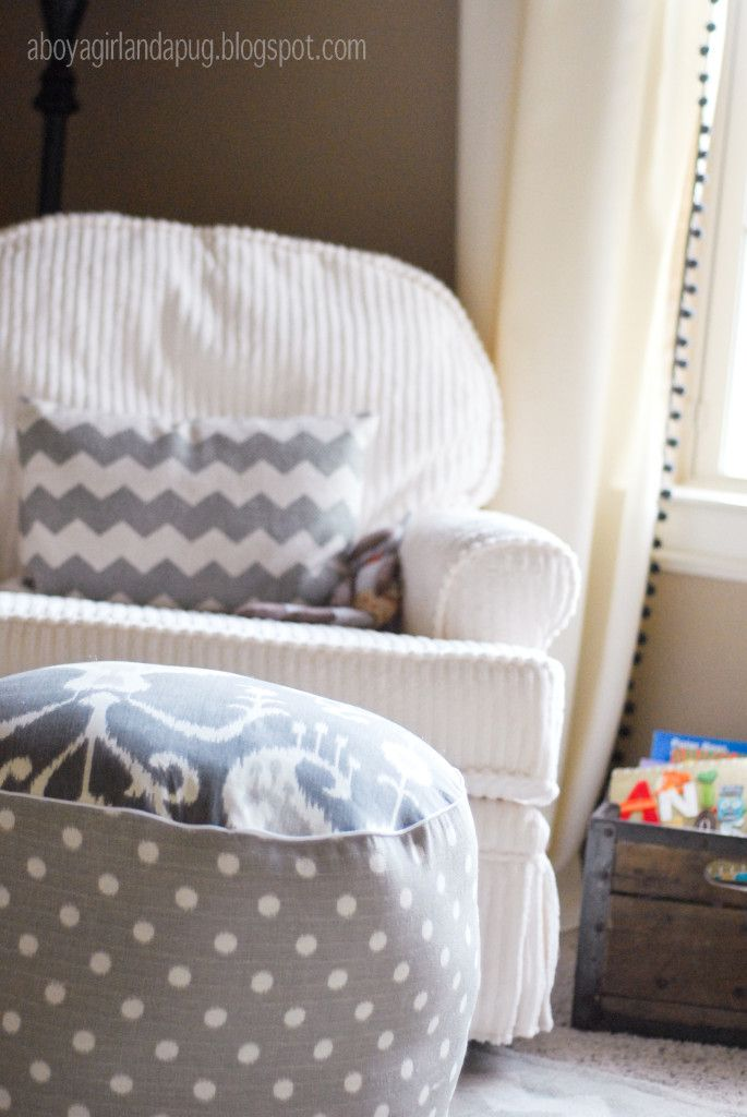 love this ... getting started tight away Project Nursery - Vintage Gray Nursery Glider