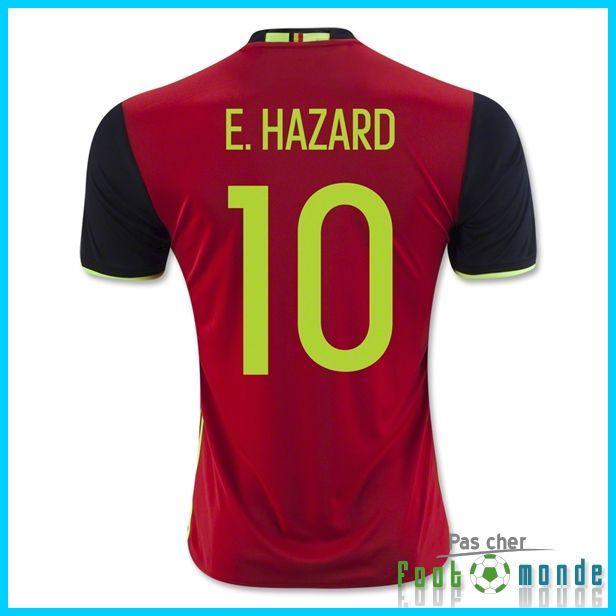 Offrir Nouveau Maillot Belgique Euro 2016 E. HAZARD 10 Domicile