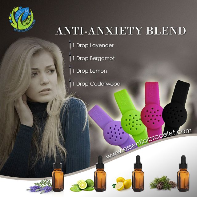 Essential Bracelet's Anti-Anxiety/Depression Blend. Surround yourself with a subtle scent or to take a big whiff to help you relax.  Anti-Anxiety/ Depression Blend: 1 Drop Lavender- This will help you relax. 1 Drop Bergamot- This will help open up your airways to breathe. 1 Drop Lemon- This oil is instantly uplifting to change your mood. 1 Drop Cedarwood- This will help ground and give confidence