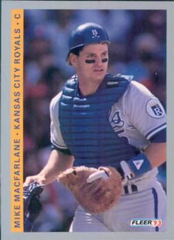 "Mike Macfarlane, KC Royals. Tough nosed catcher who, upon becoming angered at Fenway Park when a fan carrying an umbrella interfered with his ability to catch a pop-up behind home plate, launched into a vicious tirade against the fan's umbrella and destroyed it to the horror, bewilderment and subsequent joy of the Boston fans who in turn christened him, ""Umbrella Killer"". This new name was rained down upon Macfarlane for the remainder of the game."