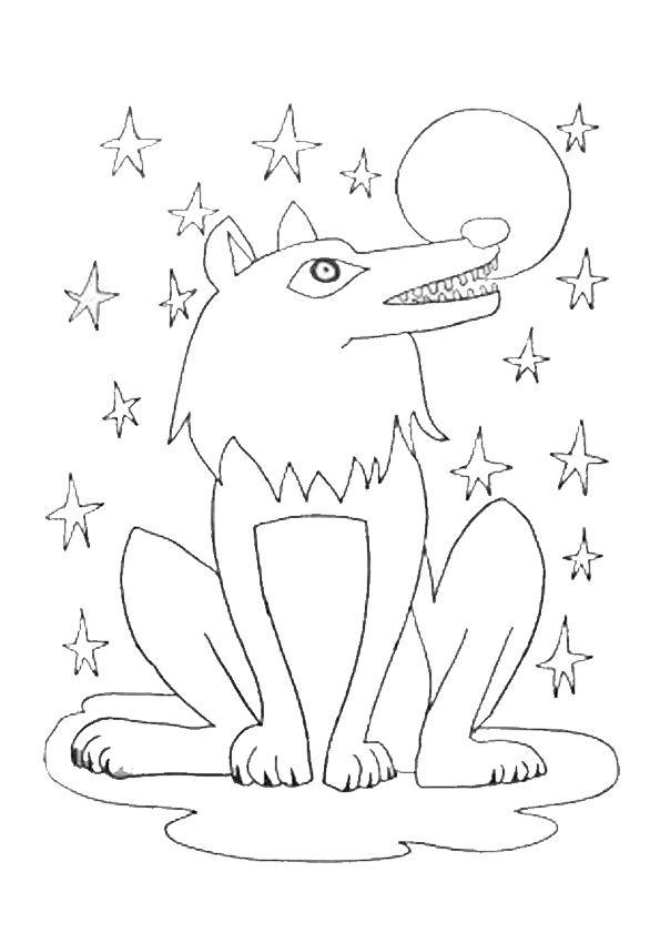 Les 82 meilleures images du tableau dessins de loups colorier sur pinterest dessins de - Coloriage loup rigolo ...