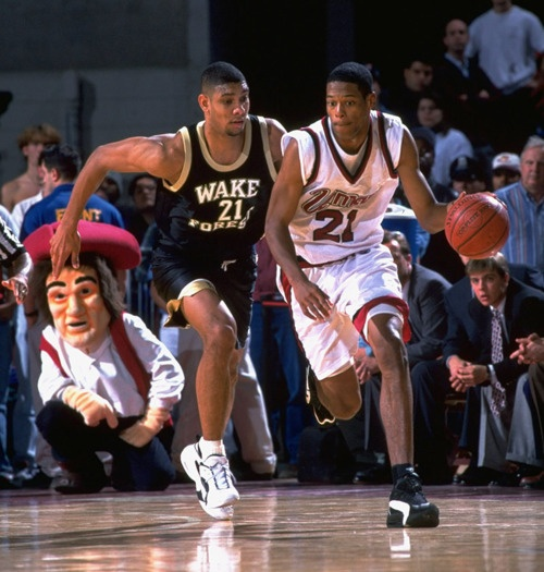 Tim Duncan & Marcus Camby in college