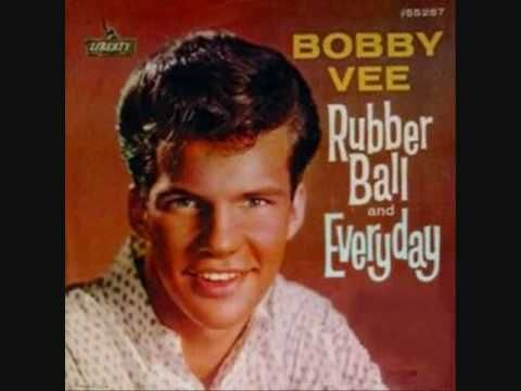 "▶ BOBBY VEE- ""RUBBER BALL"" - YouTube  Loved ""my"" music genre when you could understand the words!"