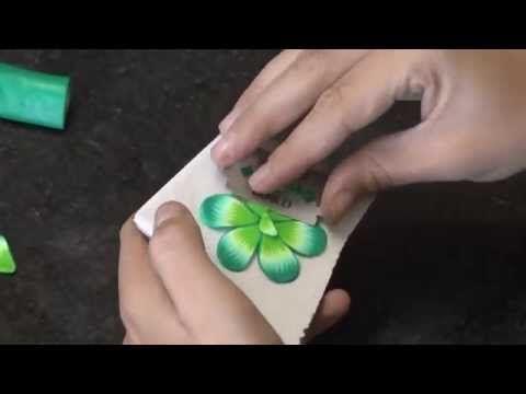 Estampa millefiori em cerâmica plástica (polymer clay) + brinco falso alargador - YouTube