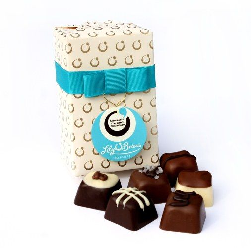 The Chocolate Caramel Collection, 12 Chocolates available at LilyOBriens.ie