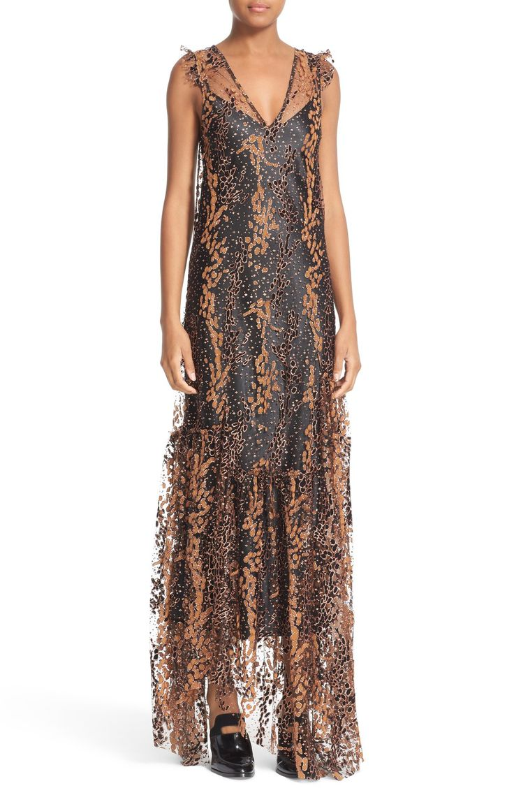 Find Opening Ceremony Enamel Glitter Tulle Midi Dress Only at Modalist