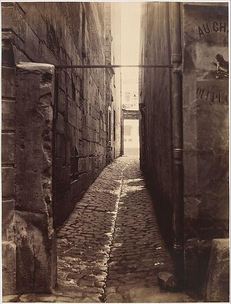 Rue du Chat-qui-Pêche (from the Rue de la Huchette) Charles Marville (French, Paris 1813–1879 Paris) 1868