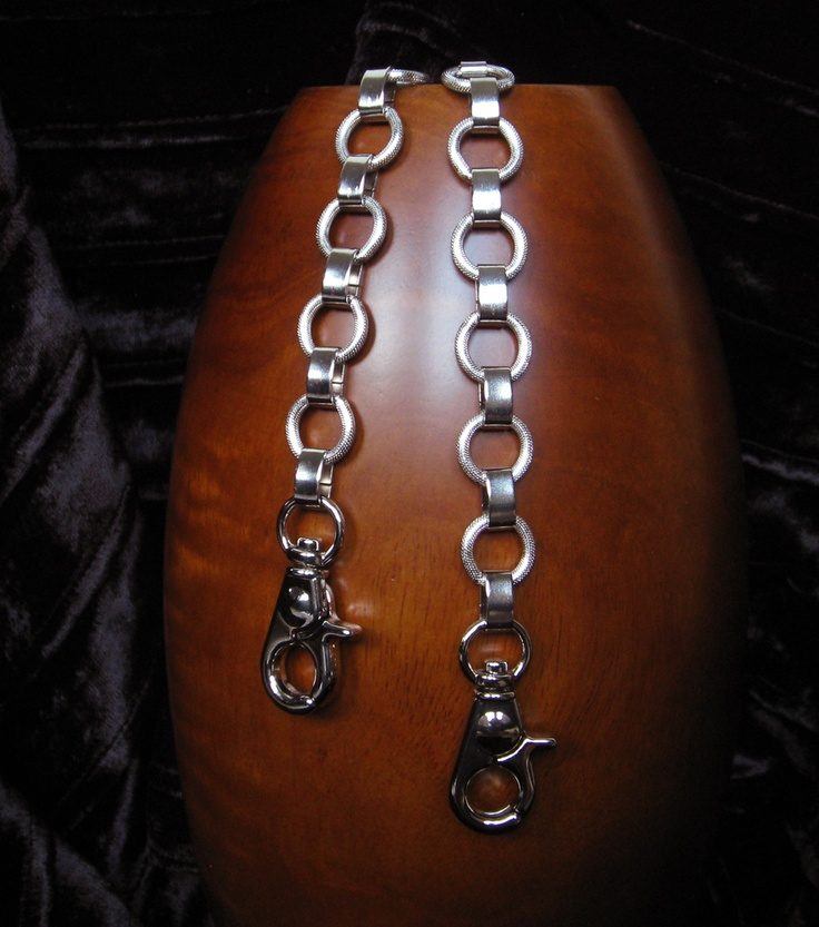"""NICKEL Chain Purse Strap - Elegant Textured Ring Chain - 5/8"""" (.625 inch) Wide - Your Choice of Length"""