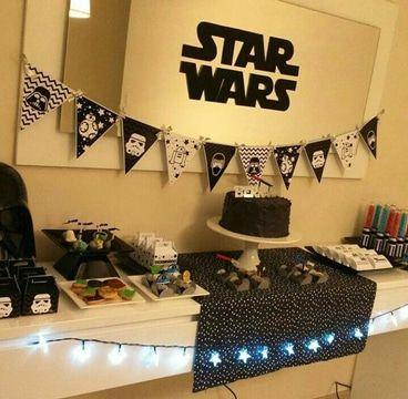 fiesta de star wars para niños decoracion