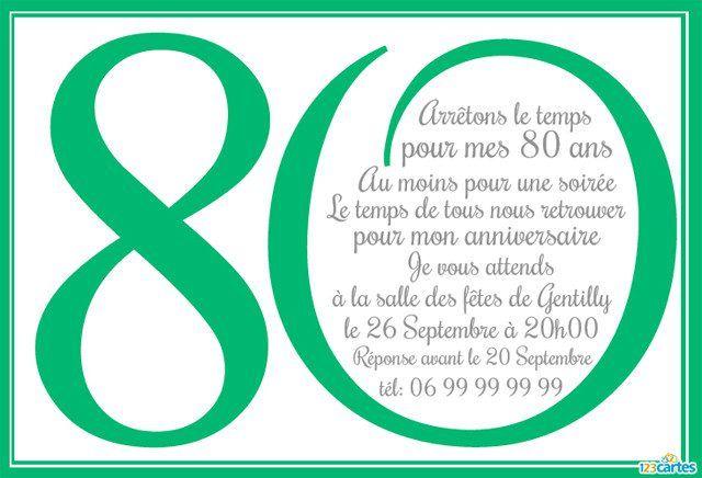 invitation anniversaire 80 ans en chiffres 4