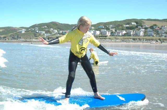 Great family fun at Woolacombe beach. Trying to hold my balance!  Woolacombe Sands Holiday Park https://www.campsitechatter.com/campsites/pinboard/Woolacombe-Sands-Holiday-Park/5779562952439790689
