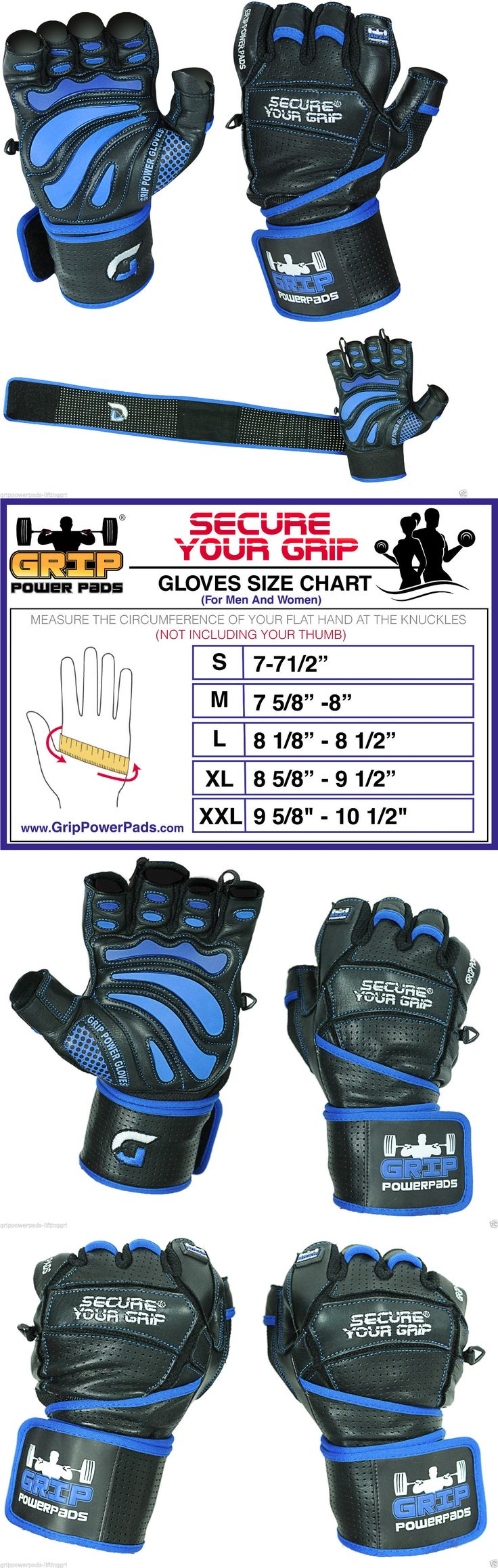 Gloves Straps and Hooks 179820: Gym Gloves Body Building Weightlifting Workout Exercise Wrist Wraps Straps New BUY IT NOW ONLY: $42.95