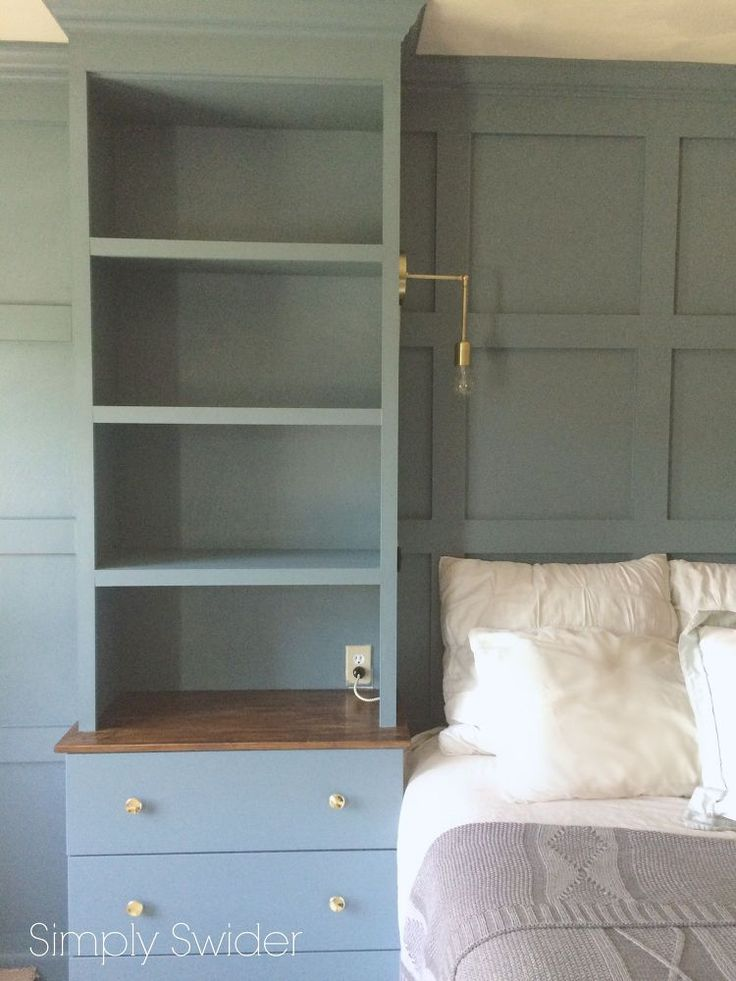 DIY+Master+Bedroom+Built-ins with info on 'how to'.