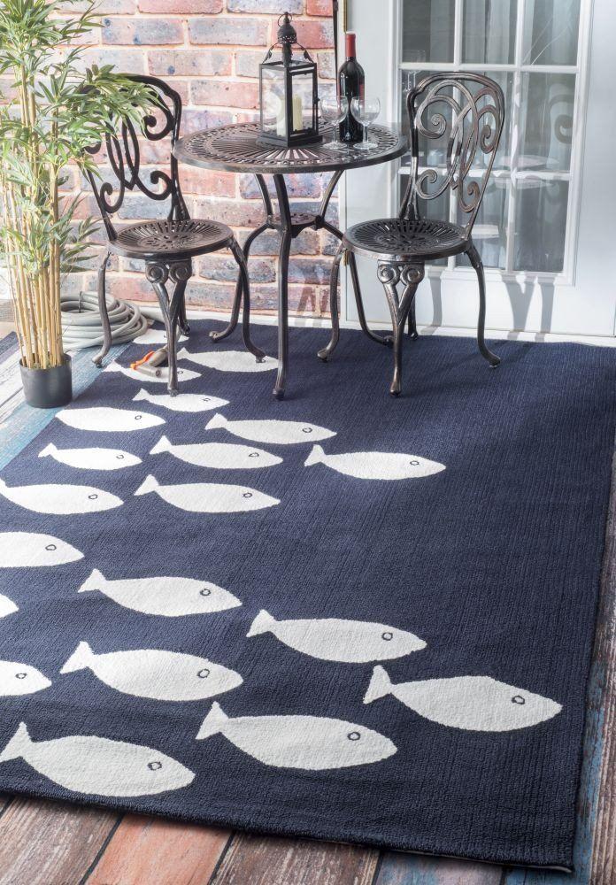 Hand Hooked Vivienne indoor/ outdoor area rug