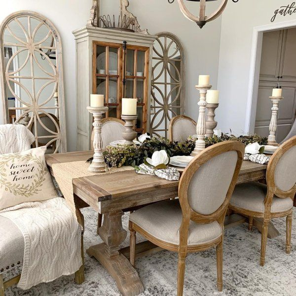Cremone Linen Gray 72 Tall Cabinet Pier 1 Imports Farmhouse Dining Rooms Decor Country Dining Rooms French Country Dining Room