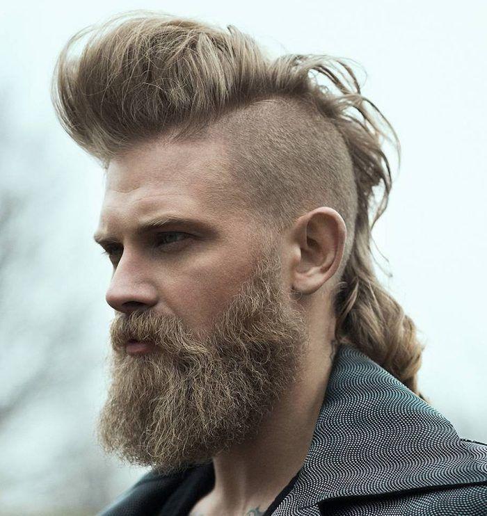 Zopf Frisur Manner 2021 Mohawk Frisur Frisur Langes Gesicht Haarschnitt