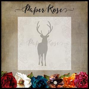 PAPER ROSE DIE Reindeer - Christmas metal cutting die
