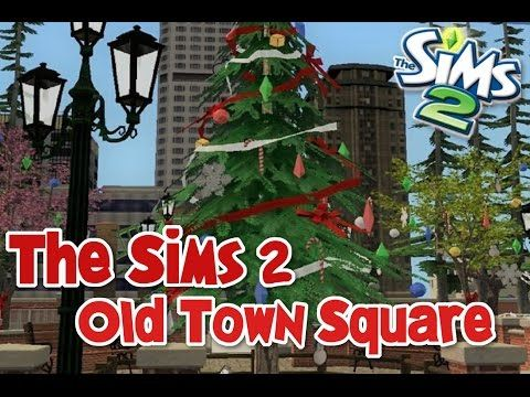 The Sims 2 Speedbuild-Old Town Square