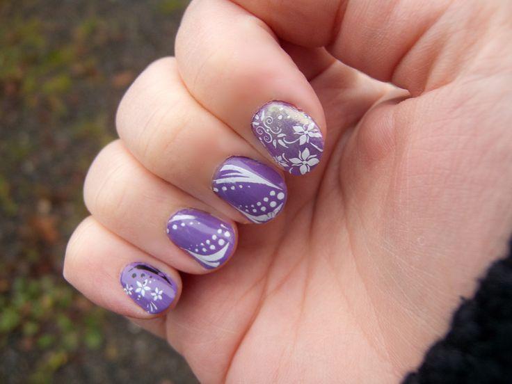 art nail designs. Purple NailsWhite ... - 75 Best Nail Art Images On Pinterest Purple Glitter, Glitter