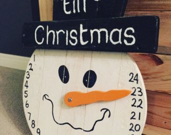 Items similar to Days till Christmas Countdown Rustic Sign on Etsy