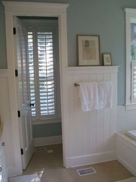 Best 25 wainscoting in bathroom ideas on pinterest - Bathroom remodel ideas with wainscoting ...