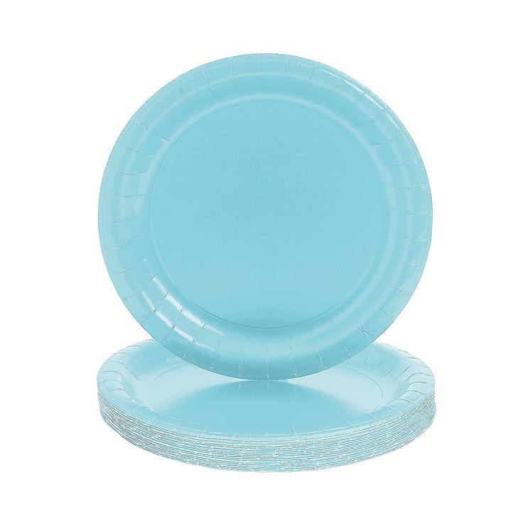 Round Light Blue Dinner Plates - OrientalTrading.com