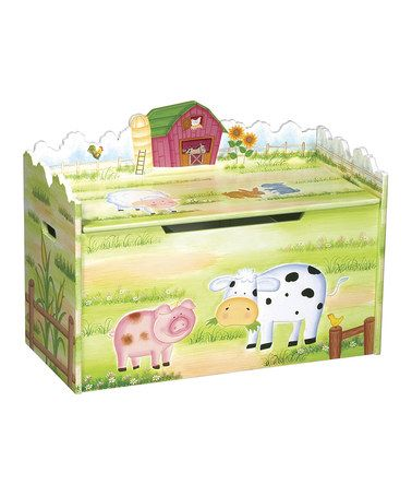 Take a look at this Farmhouse Toy Box by Guidecraft on #zulily today!