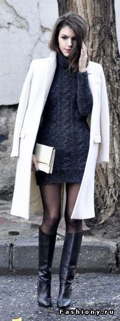 Street Style: Платье-свитер