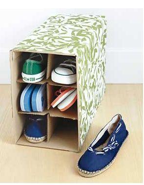 Reusa cartón para organizar tus zapatos | Guate Sostenible