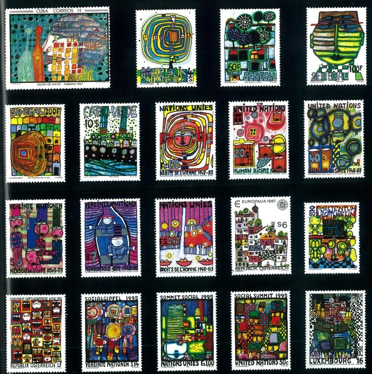 Hundertwasser stamps
