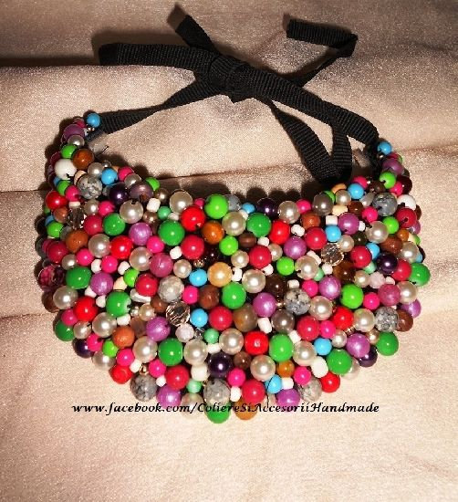 Colier handmade multicolor, by Colierehandmade, 80 Lei