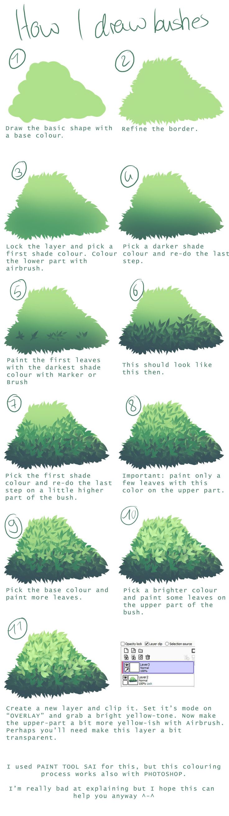 A tutorial I did a few months ago. the-searching-one.deviantart.com