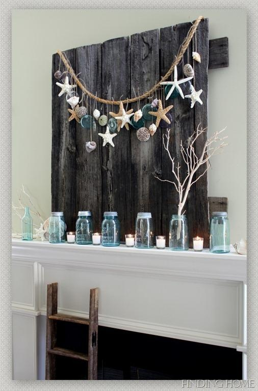 DIY Summer Mantel - Finding Home