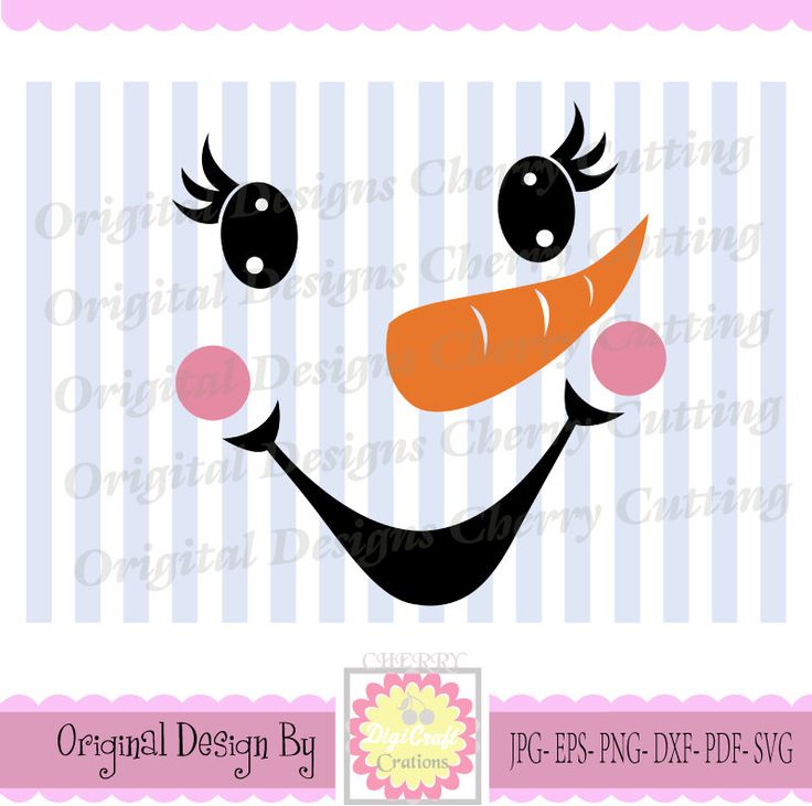 Snowman Faces Thanksgiving Turkey Cute Snowman Svg