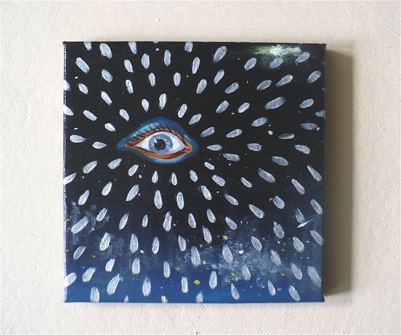 Small Surreal Acrylic Eye Painting, Wall Art in Pittsburgh, PA, USA ~ Krrb