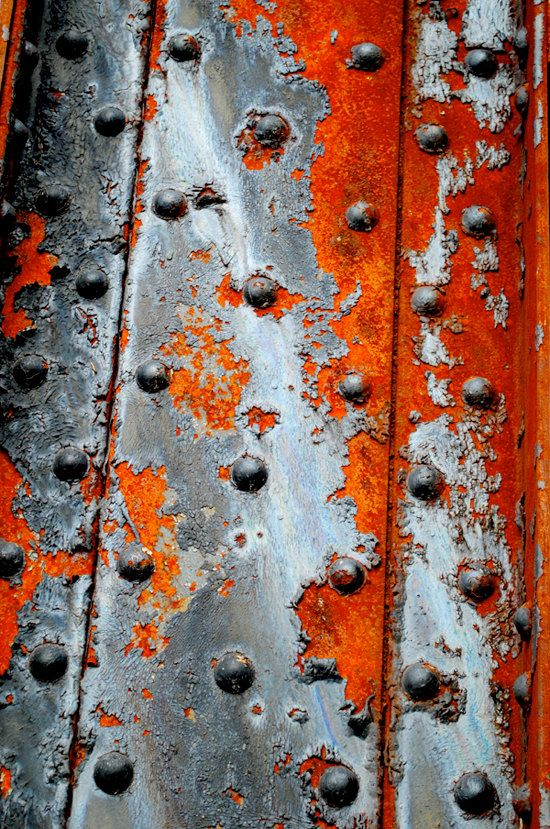 """Industrial Abstract Art Photography Print - corrosion texture wall art decor """"Sliced"""" / custom sizes and canvas wraps available. $20.00, via Etsy."""