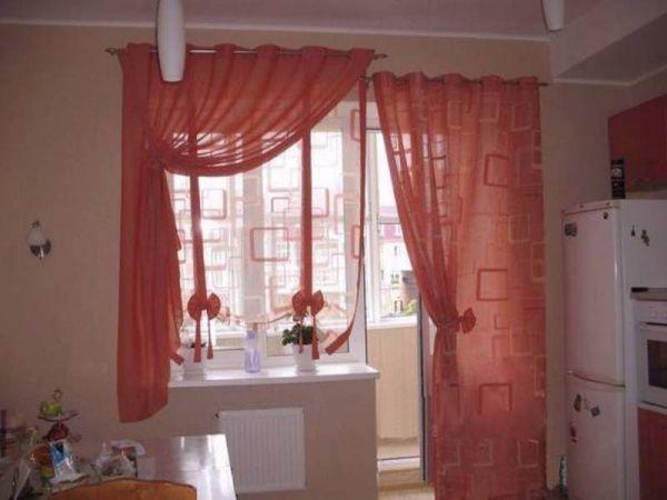 Картинки по запросу шторы для кухни угловое окно