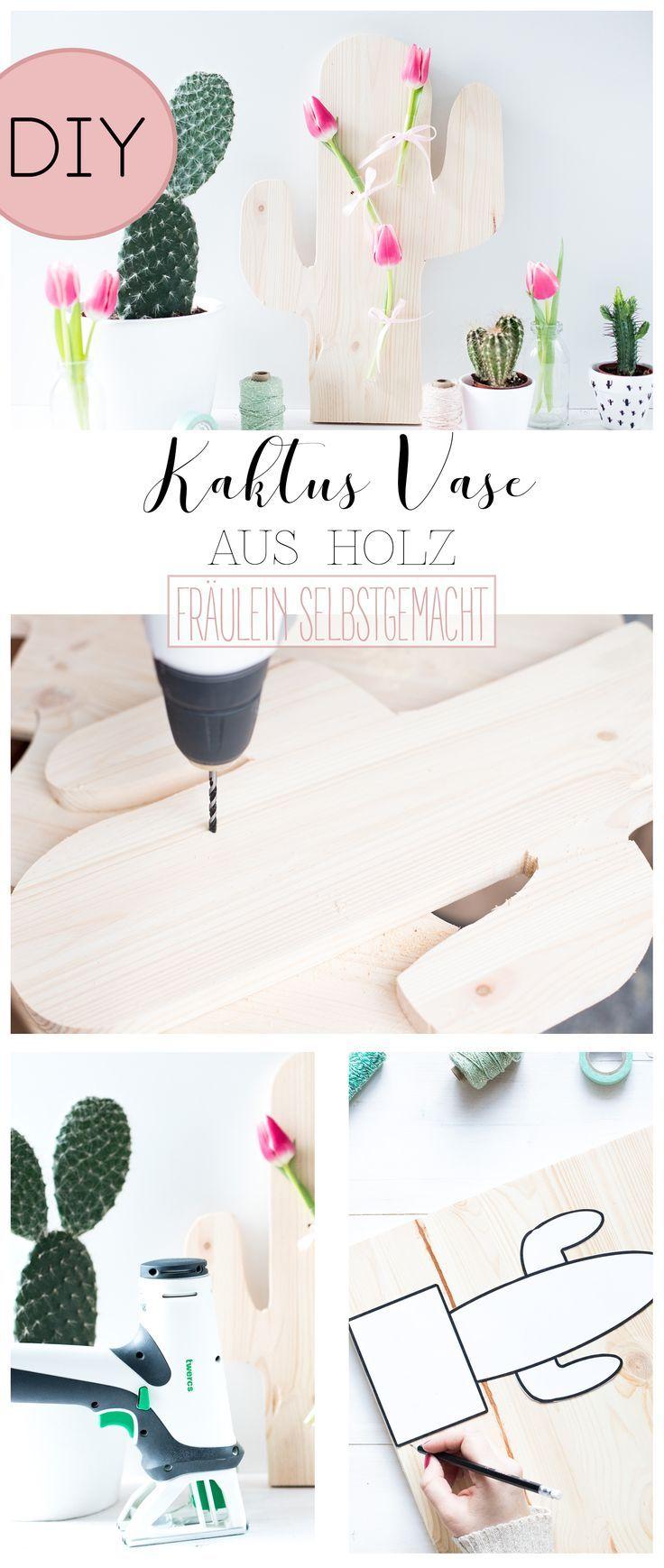 kaktus vase aus holz selber bauen mit der twercs toolbox | pinterest