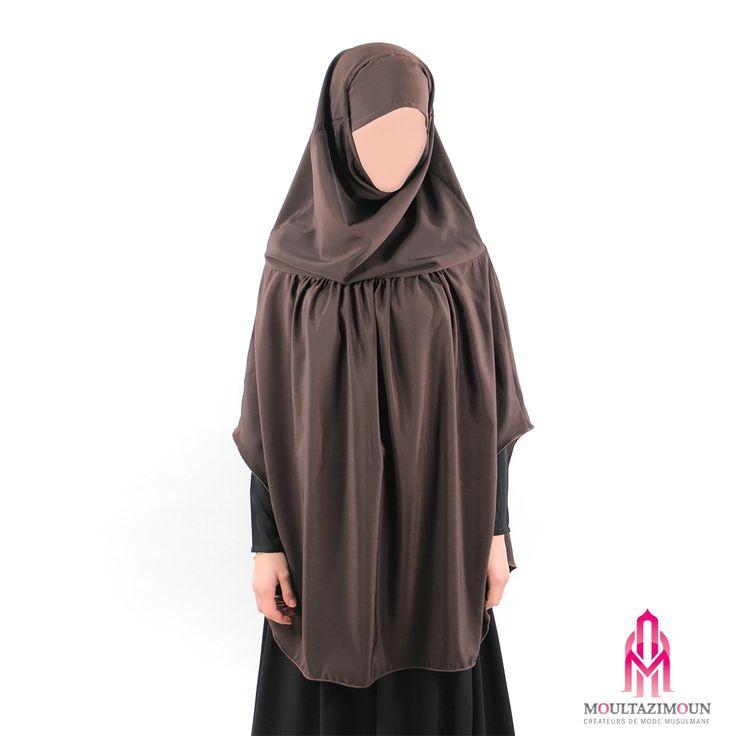 Khimar à fronces - Al Moultazimoun #Overhead #khimar #jilbab #cardigan #jilbab #best #abaya #modestfashion #modestwear #muslimwear #jilbabi #outfit #hijabi #hijabista #long #dress #mode #musulmane #clothing